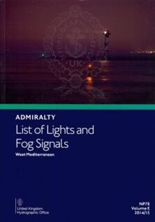 Адмиралтейский список огней и туманных сигналов на английском языке. Admiralty list of Lights and Fog Signals NP 74-87